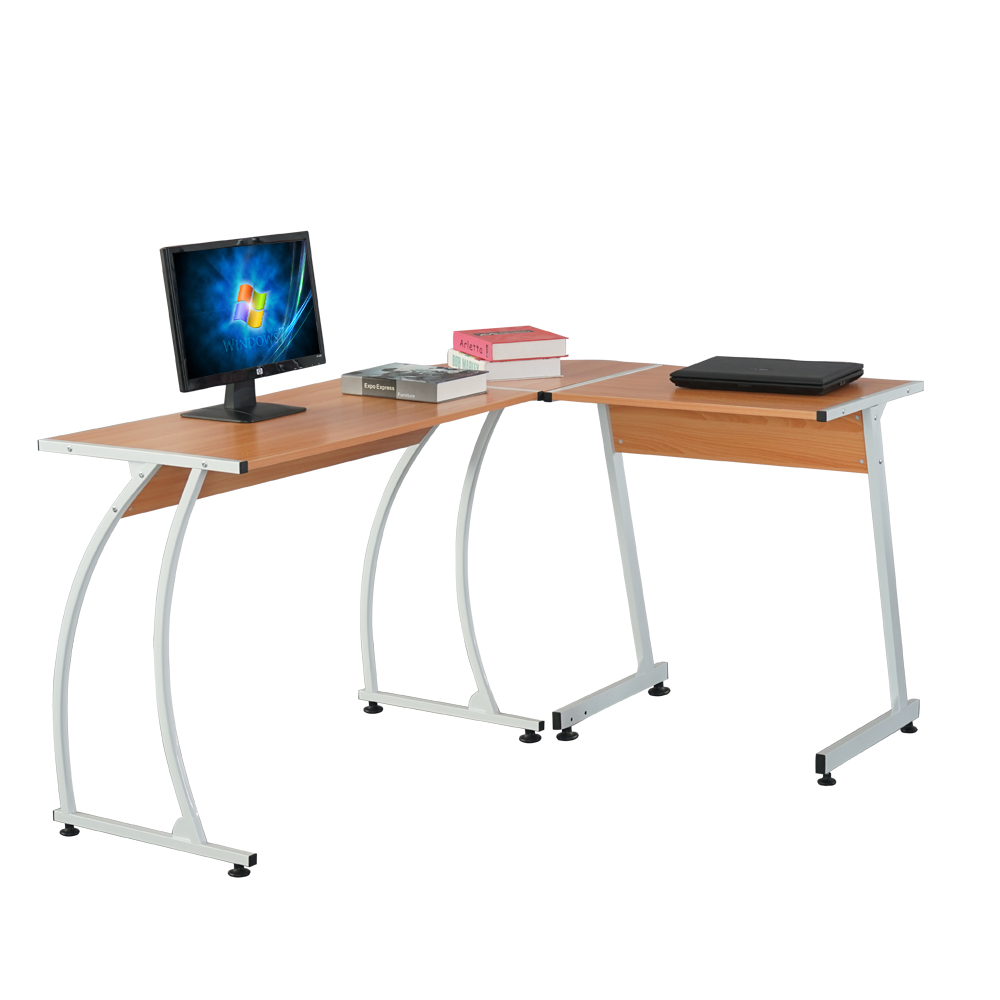 Charmant Details About Corner Desk/L Shaped Computer Desk Gaming PC Table Laptop  Writing Table Wood